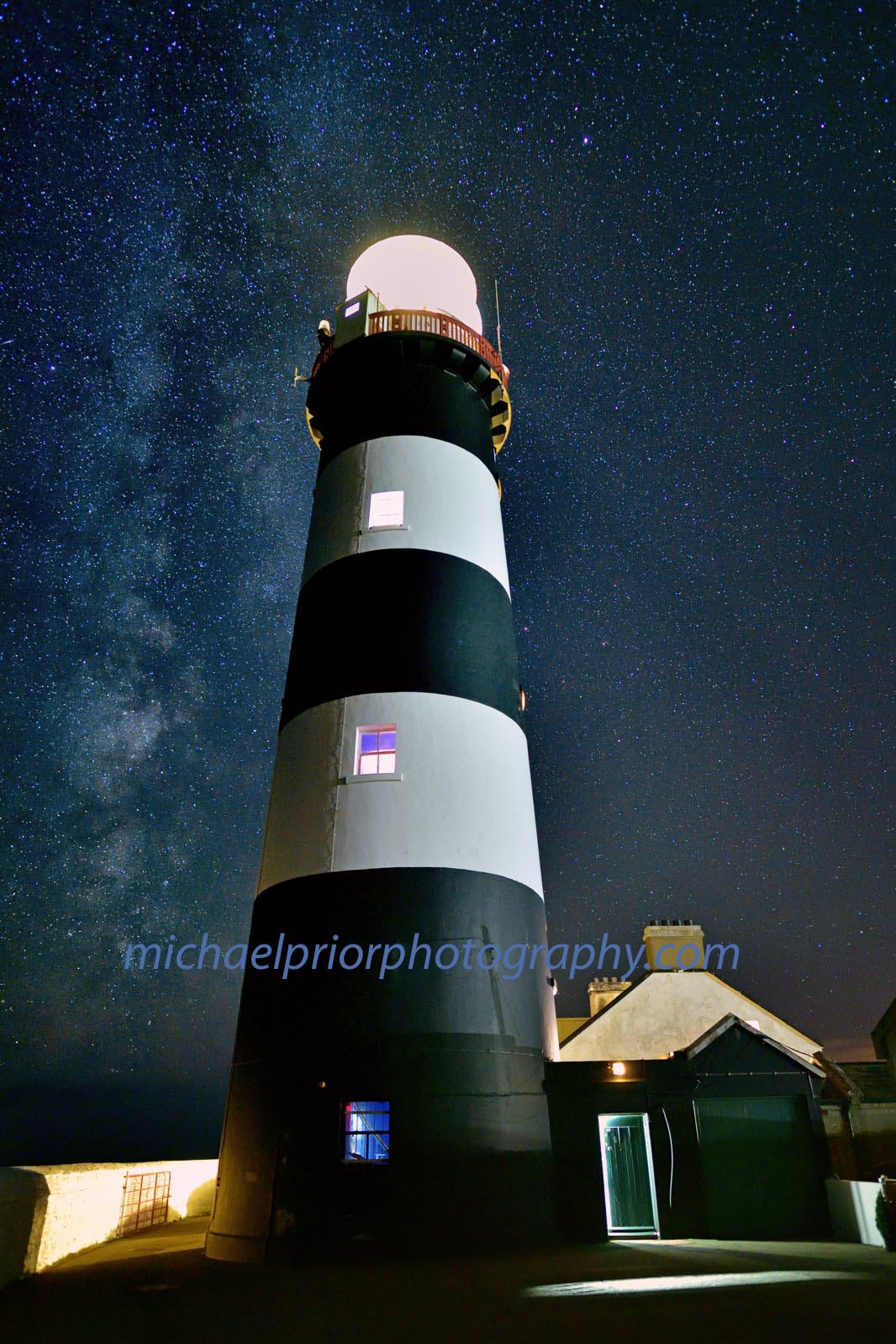 The Oldhead Lighthouse Of Kinsale Under A Blanket Of Stars - Michael Prior Photography