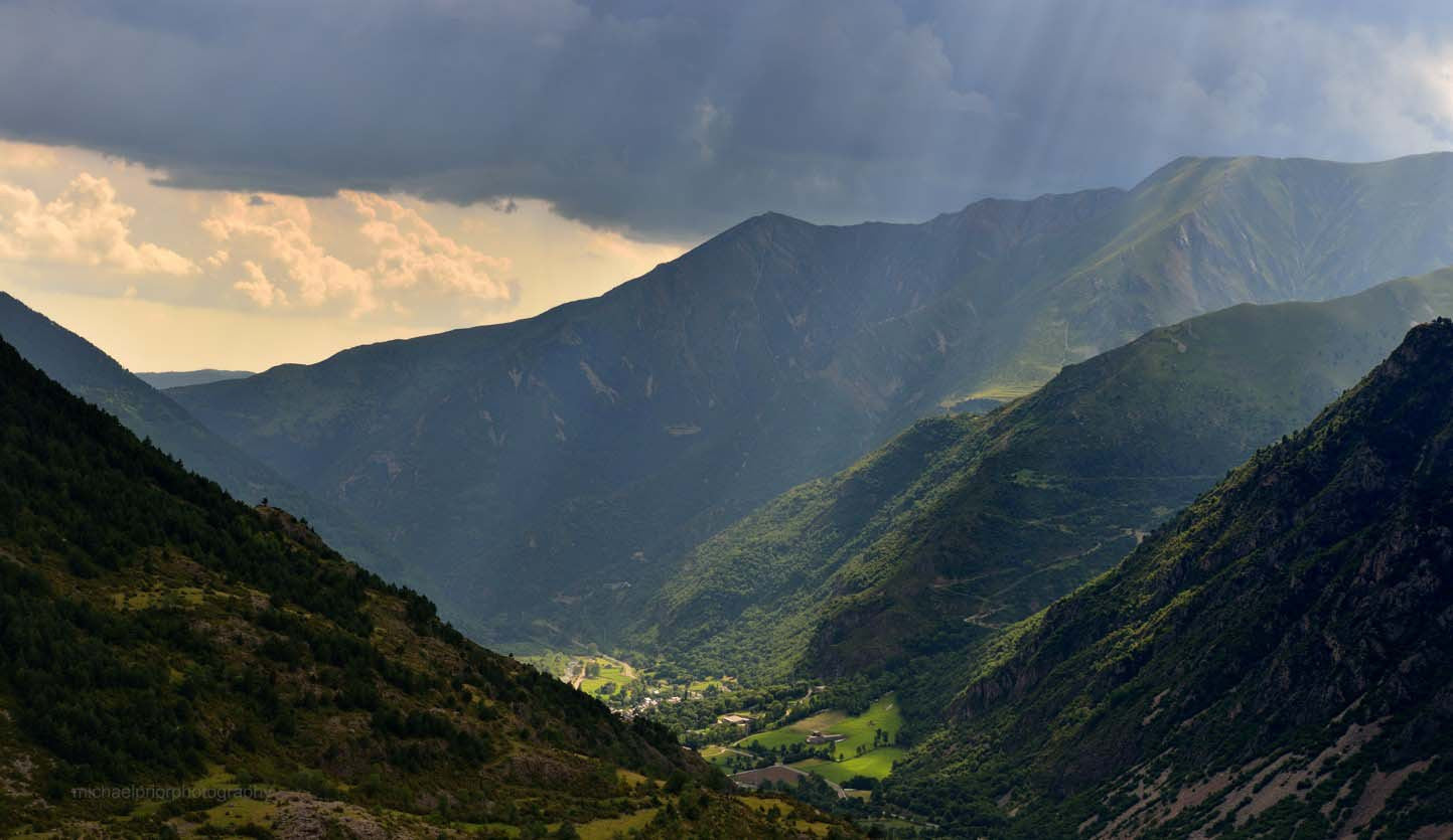 Rays Of Light In The Pyrenees - Michael Prior Photography