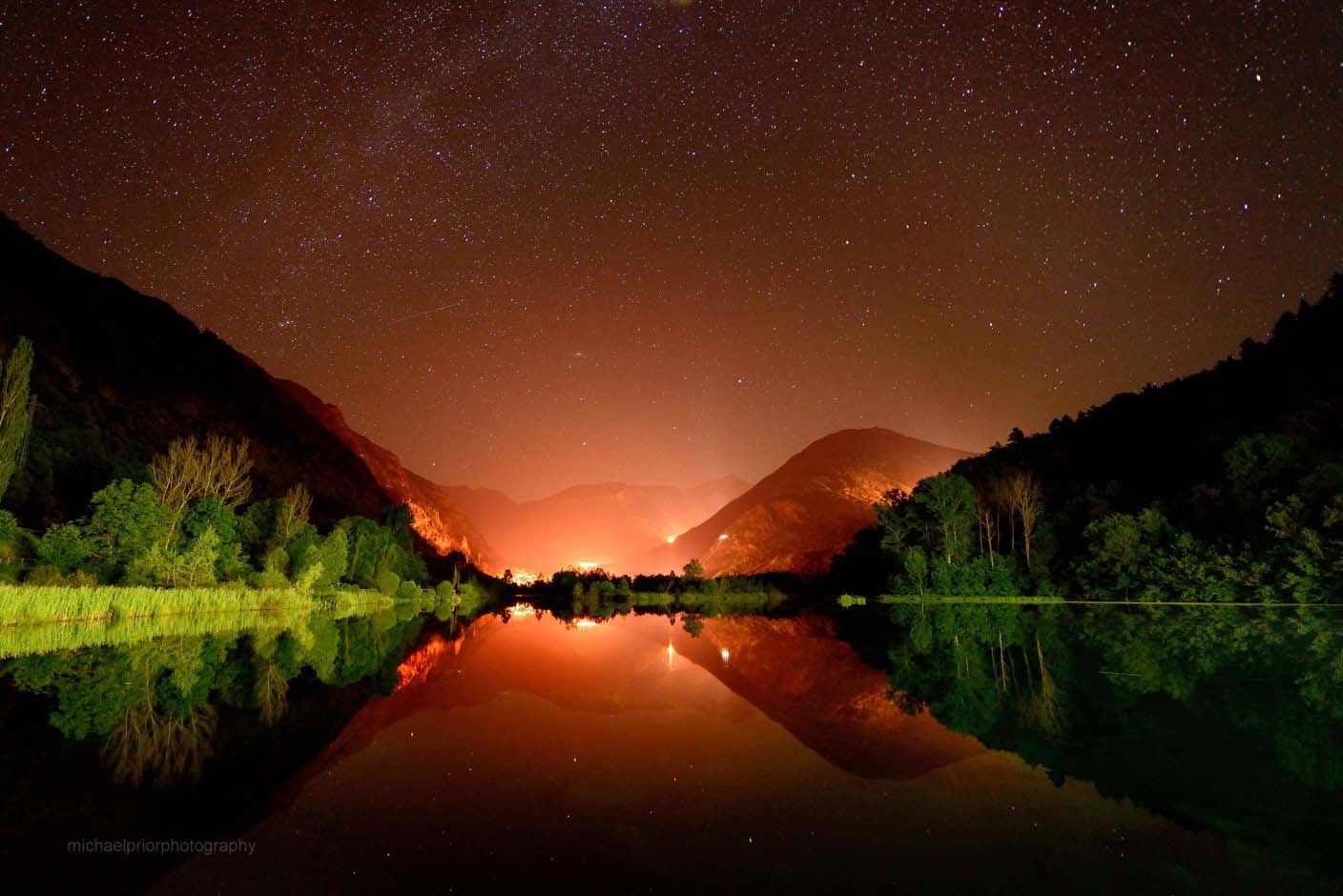 Pyrenees Lake By Night - Michael Prior Photography