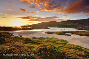 Derrynane beach at sunset