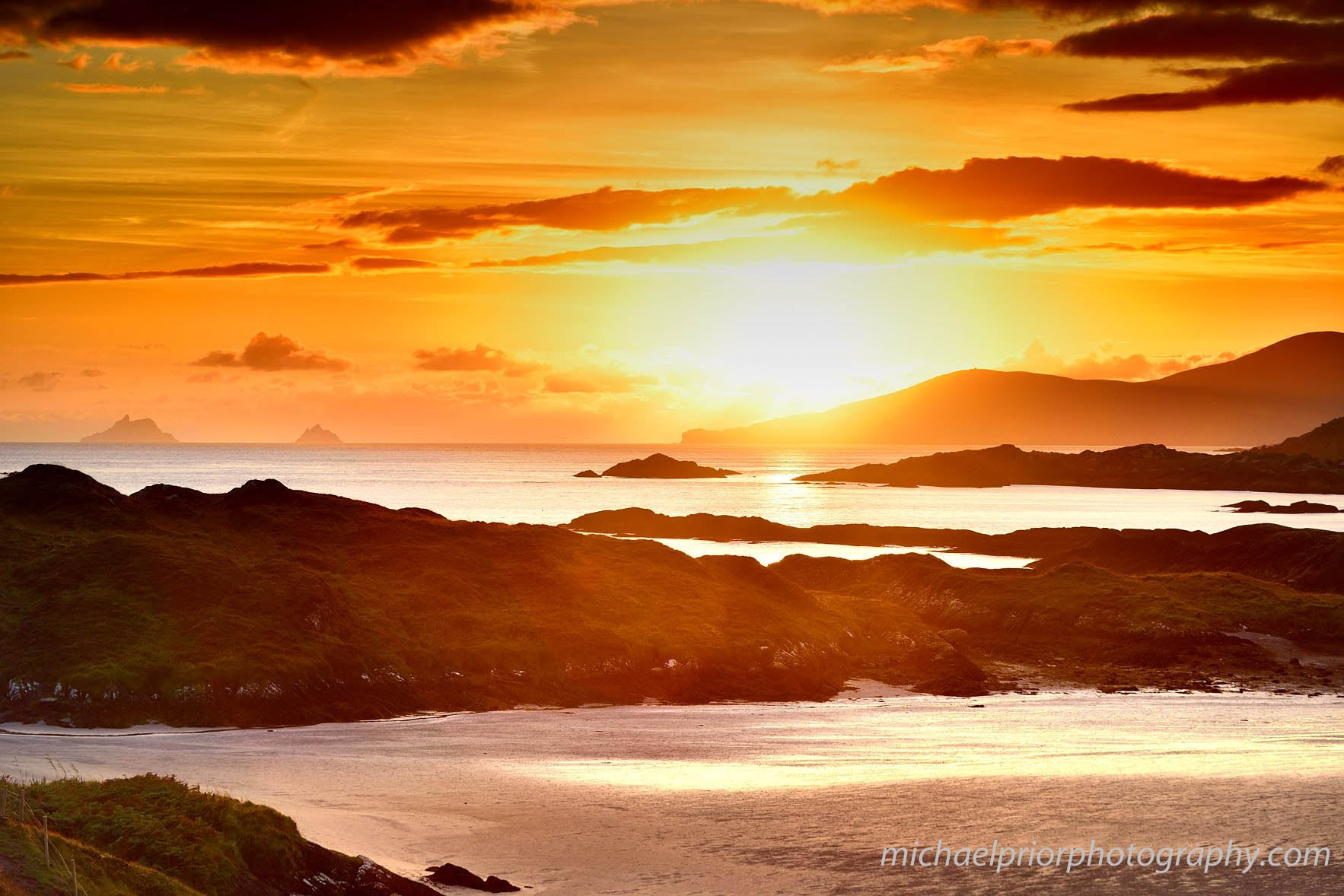 Skellig Sunset From Derrynane