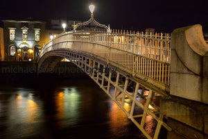 Ha'penny Bridge At Night - Michael Prior Photography