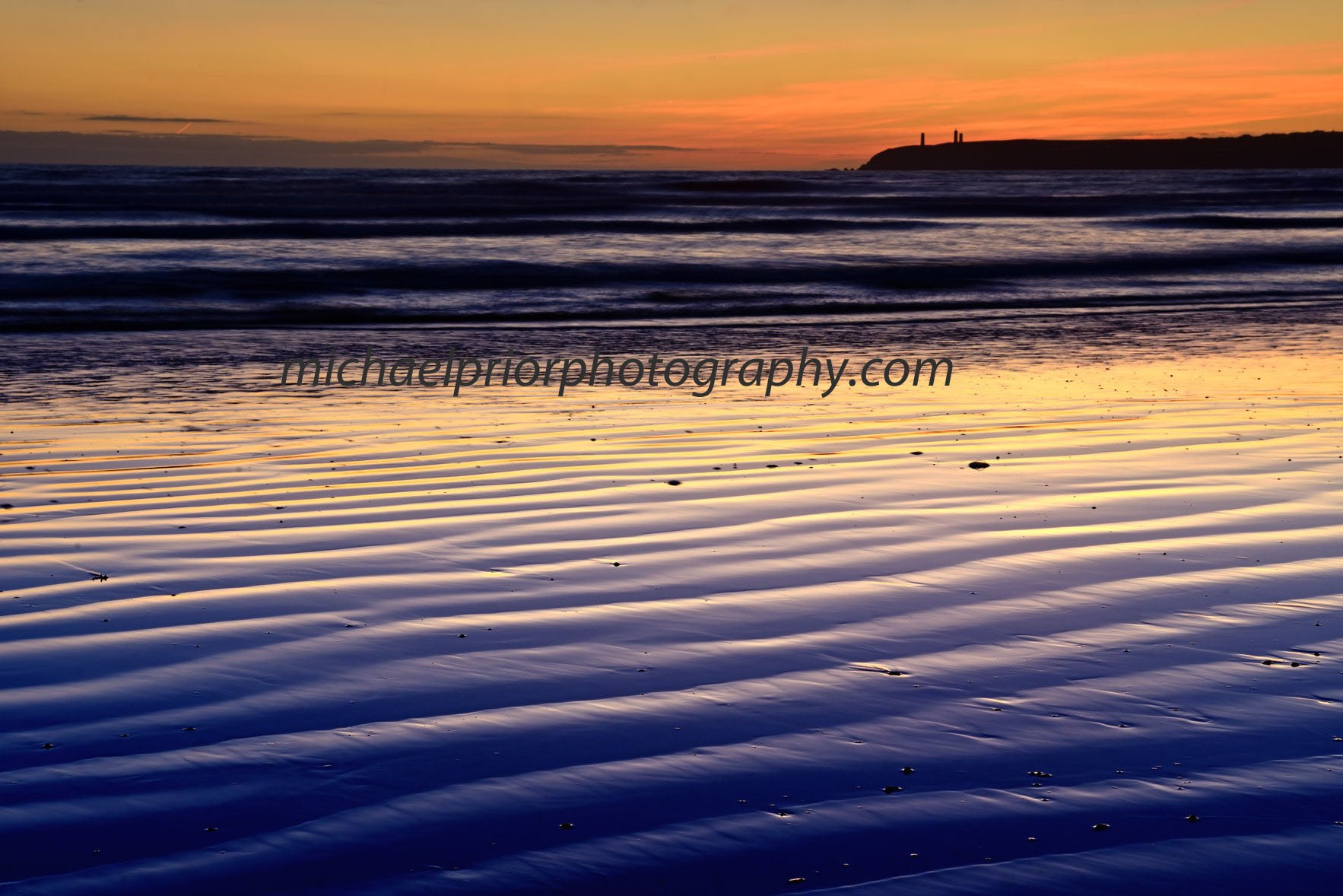 Tramore Beach After Sunset