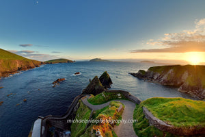 Sunset At Sleahead With The Blasket Islands In The Background - Michael Prior Photography