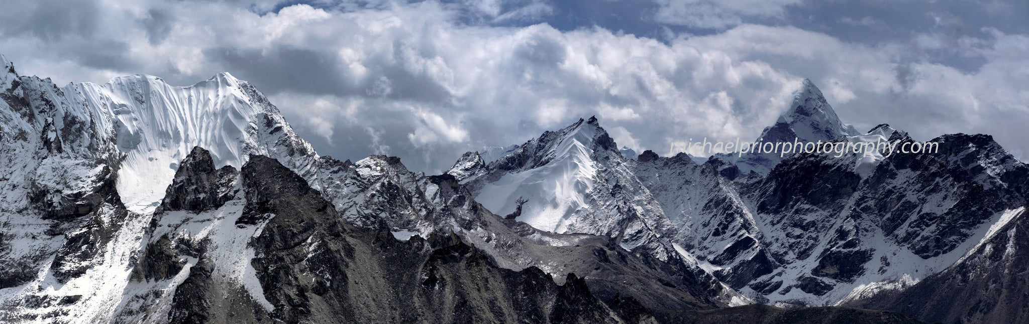 The Himalaya's With Ama Dablam On The Right. - Michael Prior Photography