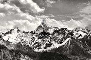 Ama Dablam in Black And White