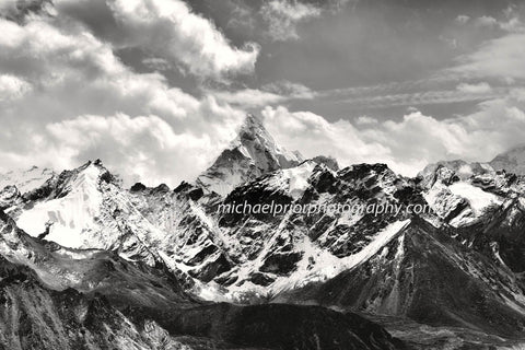 Ama Dablan In Black And Black From The Top Of Kala Patthar