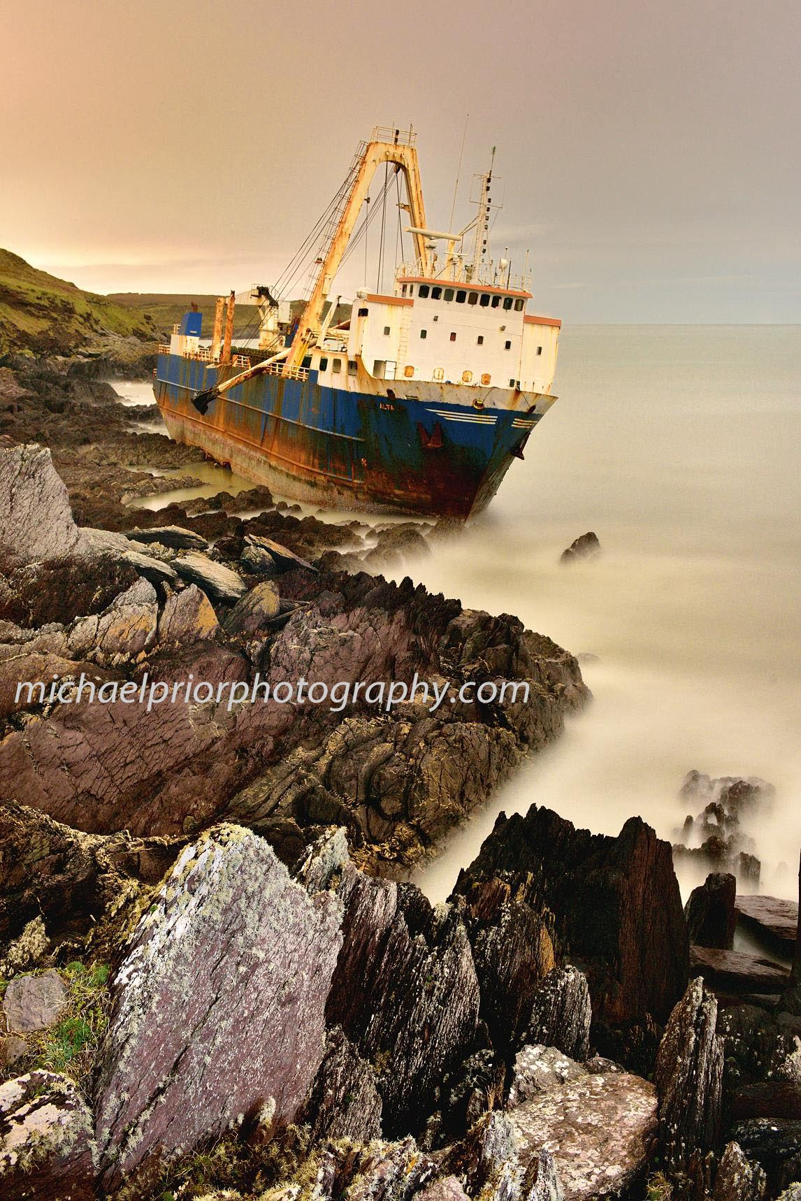 Ghost Ship In Ballycotton Co Cork