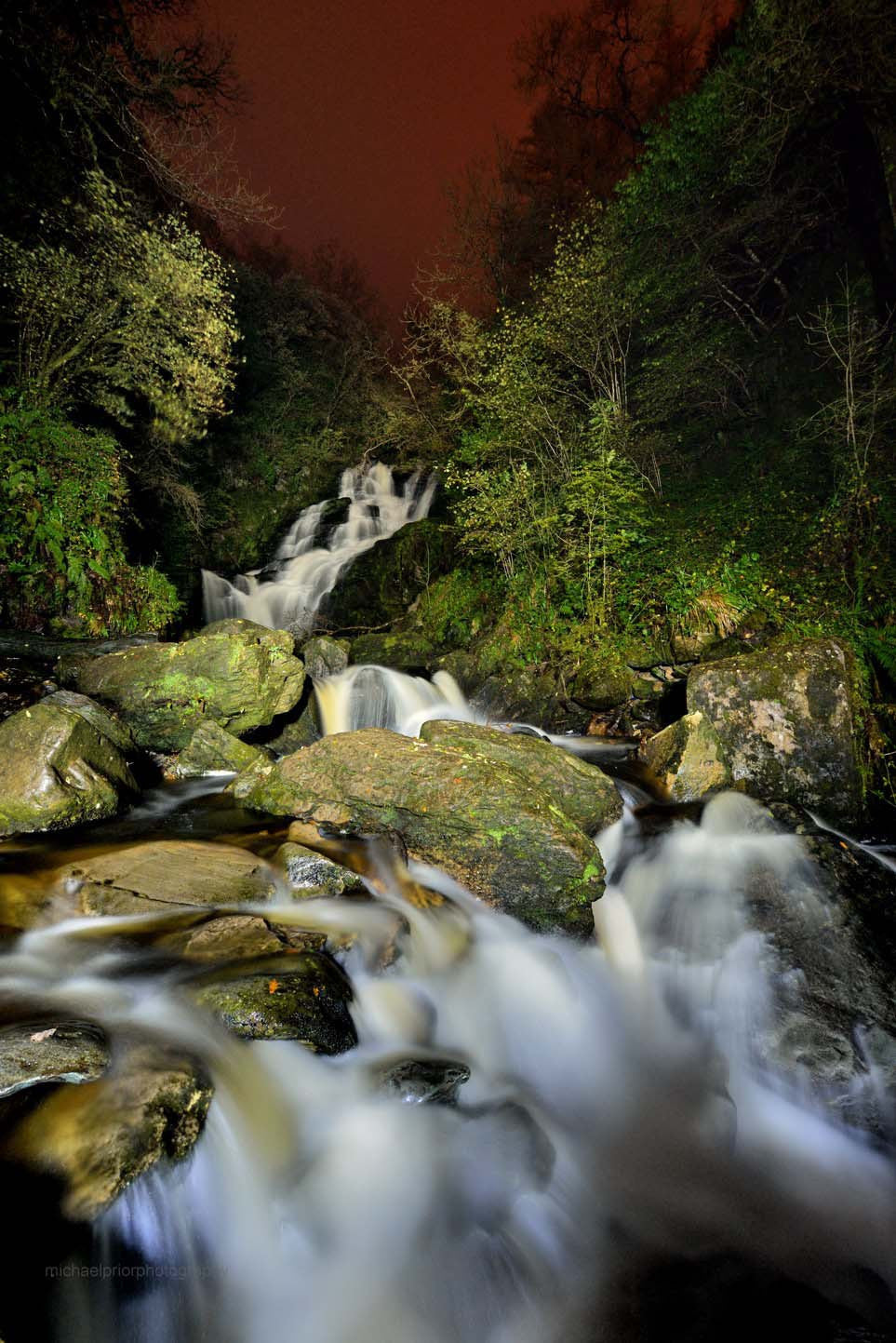 Torc Waterfall By Night - Michael Prior Photography