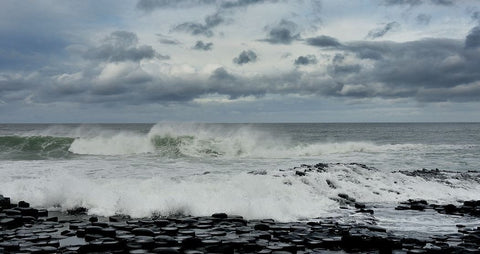 Waves Crashing On The Giants Causeway - Michael Prior Photography