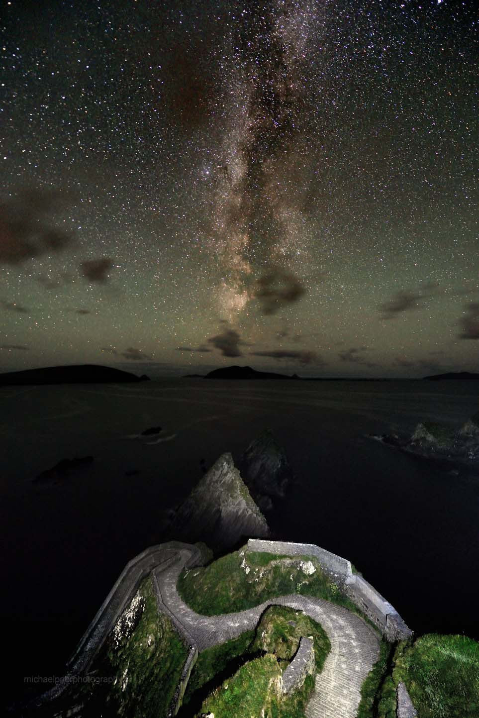Dun Choain Pier Under The Milkyway - Michael Prior Photography
