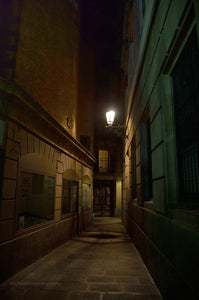 Barcelona Gothic Quartar At Night - Michael Prior Photography