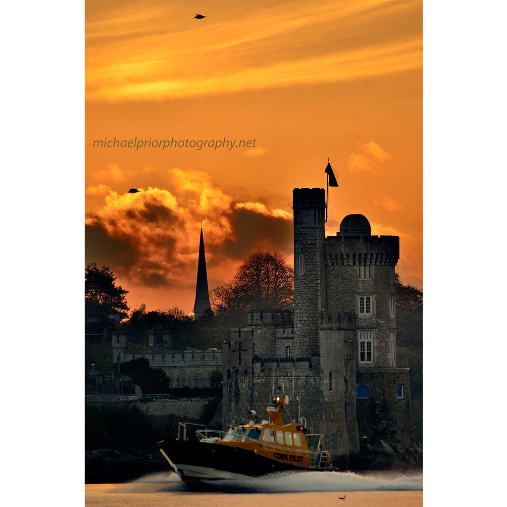 Pilot Boat Passing Blackrock Castle - Michael Prior Photography