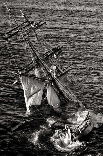 Sinking Astrid In Black And White - Michael Prior Photography