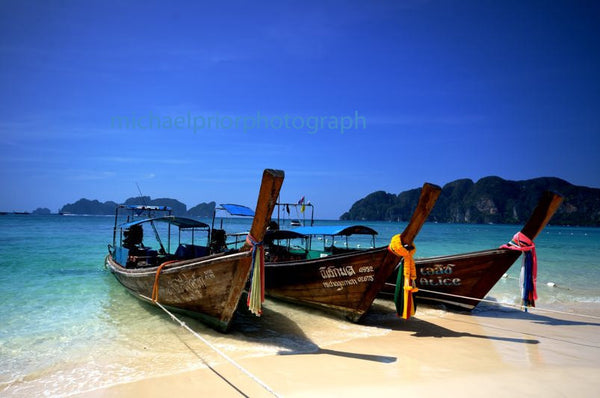 Longboats On Ko Phi Phi - Michael Prior Photography