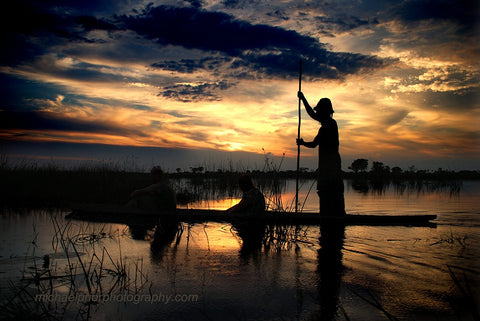 Sunset In The Okavango Delta - Michael Prior Photography
