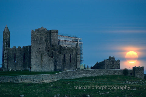 Supermoon Over The Rock Of Cashel - Michael Prior Photography
