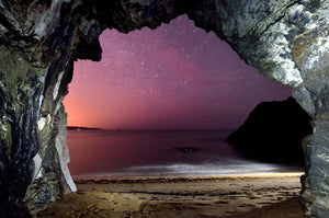 The Night Sky From A Sea Cave - Michael Prior Photography