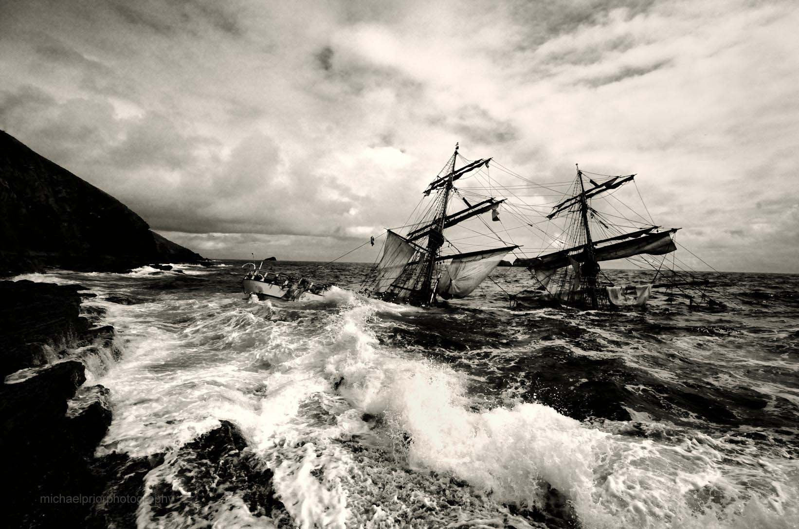 The Sunken Astrid - Black & White - Michael Prior Photography