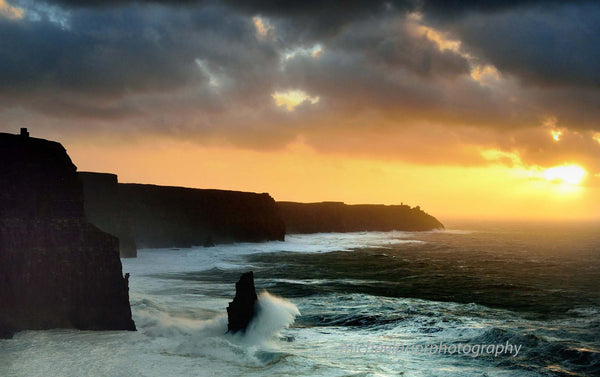 Stormy Sunset At The Cliffs Of Moher - Michael Prior Photography