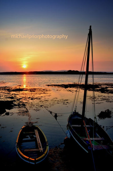 Two Boats Watching The Sunset - Michael Prior Photography