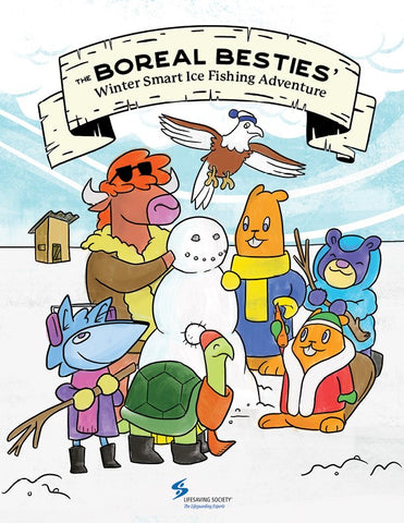 Boreal Besties Winter Smart Ice Fishing Adventure - Activity Book