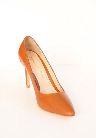 The Classic Leather Pointed Toe Heel - Caramel