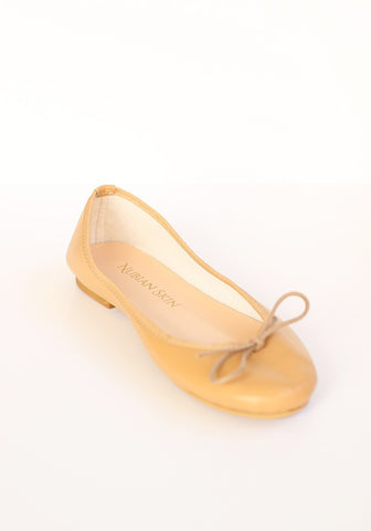 The Classic Leather Ballet Flat - Champagne