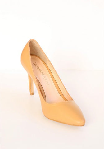 The Classic Leather Pointed Toe Heel - Champagne