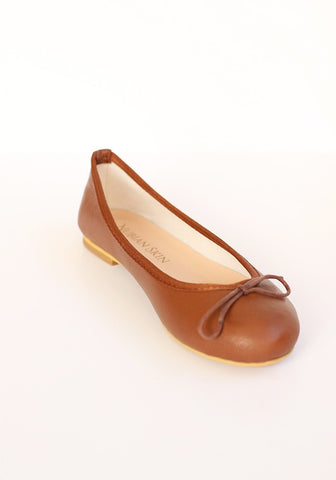 The Classic Leather Ballet Flat - Cinnamon