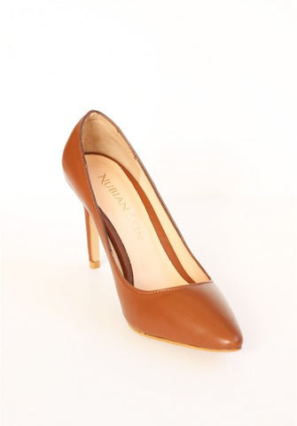 The Classic Leather Pointed Toe Heel - Cinnamon
