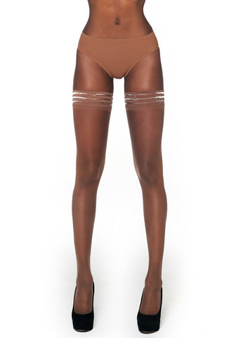 Matt 10 Denier Hold-Ups CINNAMON