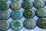 Leaf Mandala Glass 6 magnets for $12