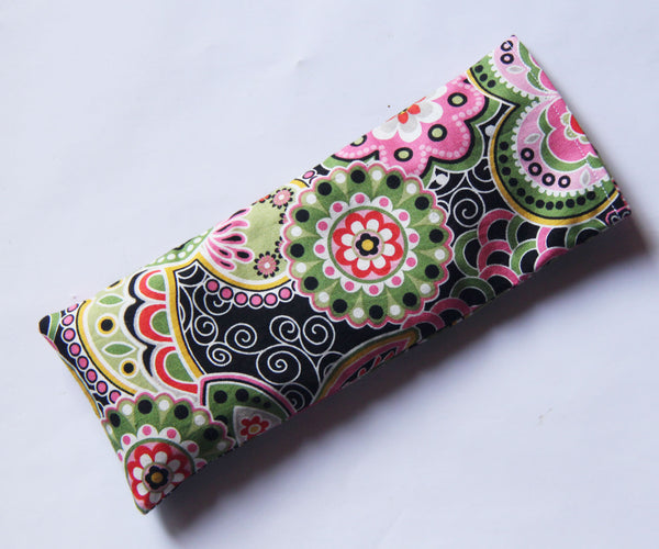 Eye Pillow with Washable Cotton Pillow Cover - Big Flowers