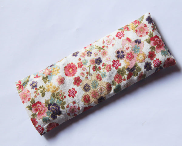 Eye Pillow with Washable Cotton Pillow Cover - Florals