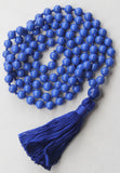 Chakra Collection - Blue Mala Necklace with Blue Cotton Tassel