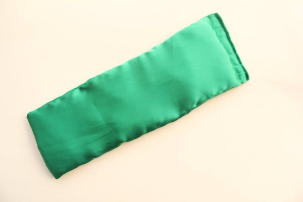 Eye Pillow with Washable Cotton Pillow Cover - Green
