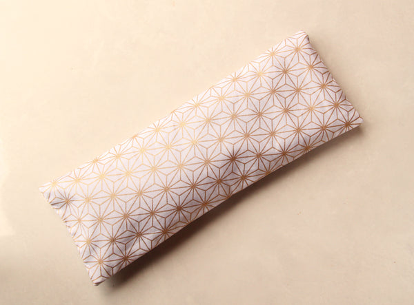 Therapeutic Flaxseed Filled Yoga Eye Pillow Savasana Aid - Golden Constellations