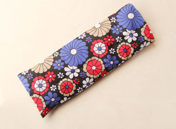 Eye Pillow with Washable Cotton Pillow Cover - Blue Mandalas