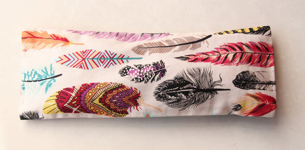 Eye Pillow with Washable Cotton Pillow Cover - Feathers