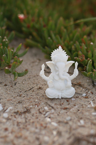 White Ganesha - Yoga Studio Decor - Yoga Gift