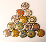 Golden Mandala Yoga Glass Dome 2.5 Fridge Magnets - Party Bag Fillers - Gift for Yogis - Event giveaways 6 magnets for $14.00