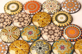 Golden Mandala Yoga 4cm Glass Dome Fridge Magnets - Party Bag Fillers - Gift for Yogis - Event giveaways 4 magnets for $14.00