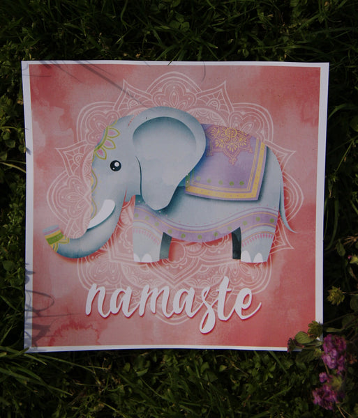 Square Pink Elephant  - 30x30cm square print ***Digital Download Only***