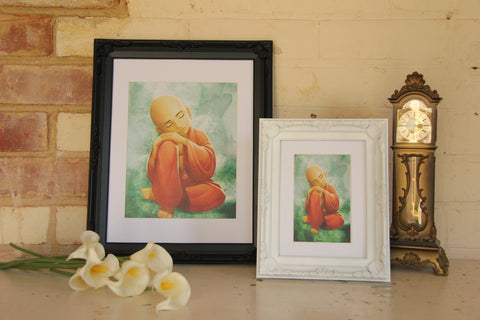 Wall Art - A3 Sized Black Buddha Yoga Studio Decor -Yoga Gift - **Digital Download Only**