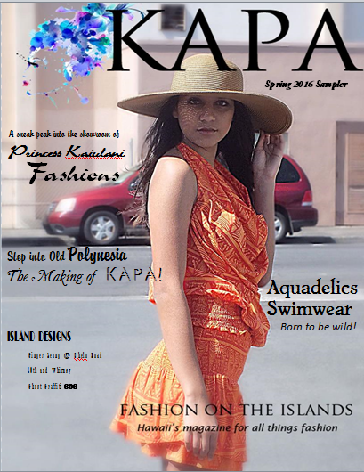 Made the Cover of Hawai'i's Fashion Magazine