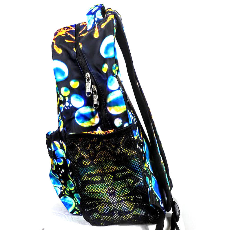 Blue Liquid Lights Back Pack