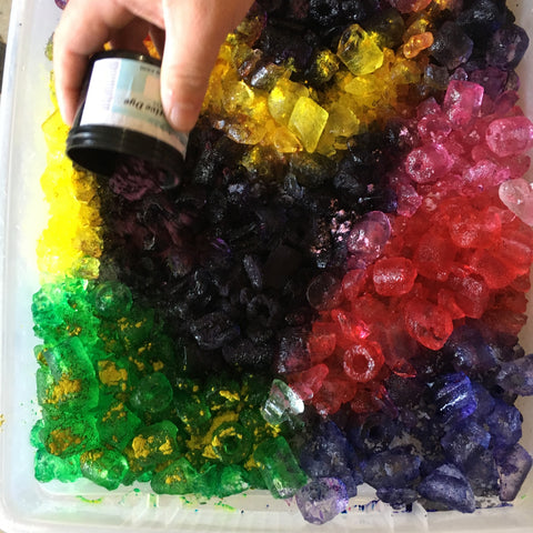 Upcycled Clothing Tie Dyeing with Joyaltee, recycled Kids Clothes, Ice Dyeing, How to Ice Dye
