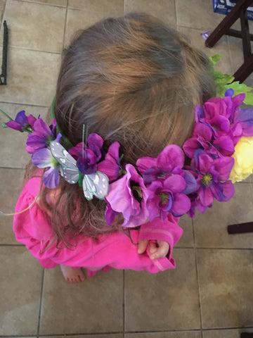 how to make fairy crowns for a party on the cheap
