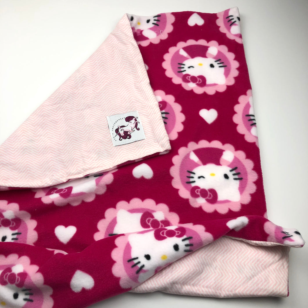 Handmade Baby Blanket, Hello Kitty, Perfect Baby Shower Gift!!! By